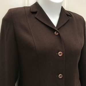 Women's LOFT Brown Blazer Sz 12